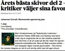 """Sirenades"" CD of the year in the major Swedish newspapers!"