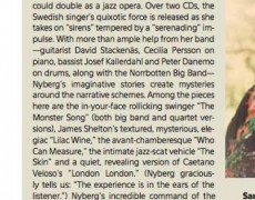 Great review of The Sirenades in DownBeat Magazine ****