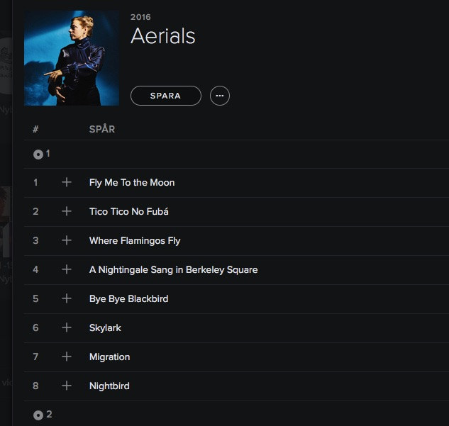 Aerials now on Spotify ⭐️